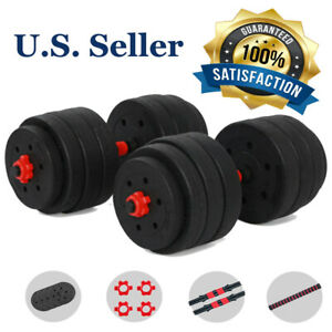 (88/66/44 LB) Adjustable Weight Dumbbell Barbell Kit Home Workout Tool Men/Women