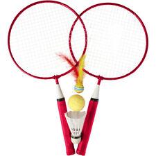 Kinder Badmintonset Federballset inkl. 2 Schläger 2 Bälle 1 Federball Outdoor