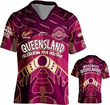Qld state of origin indigenous Adult Jersey