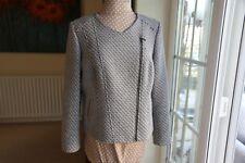 New size 14 Unusual Viyella short black & White smart angular zipped jacket