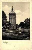 MANNHEIM Bedarfspost-AK DR 1939 Partie Wasser-Turm alte Ansichtskarte