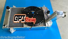 3 ROW FIT TRIUMPH TR2/TR3/TR3A/TR3B 1953-1957 MT ALUMINUM  RADIATOR & FAN
