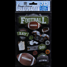 PAPER HOUSE 3D Football Game Day Balls Touchdown Star STICKERS PACK FREE US SHIP