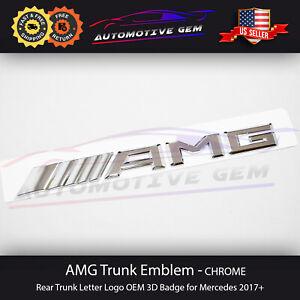 AMG Emblem Chrome Rear Trunk Letter Logo OEM 3D Badge for Mercedes 2017+