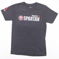 REEBOK Spartan Race 2017 Grey Sports T-Shirt Size Men's Small