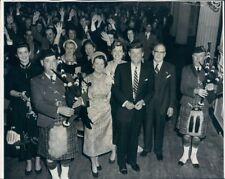 1952 Press Photo Future President John Kennedy w Jean Rose Eunice & Bagpipers