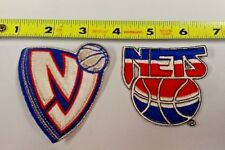 NBA NEW JERSEY NETS LOT OF 2 IRON ON PATCHES NICE !