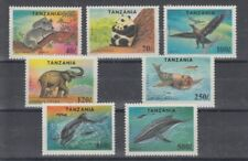 D.Tanzania 1775 - 81 Panda Elephant Dolphin Whale Etc. (MNH)