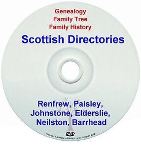 Family Genealogy Scotland Renfrew Paisley Johnstone Elderslie Neilston Barrhead