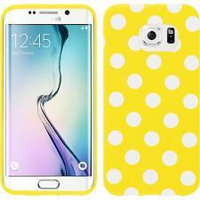 Silikon Hülle für Samsung Galaxy S6 Edge Design:04 Polkadot + flexible Folie