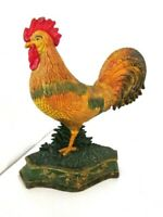 Large Door Stop Rooster Cast Iron Decorative Stopper Rooster Figurine
