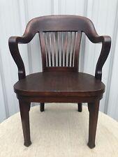 "Antique Doten-Dunton Desk Co Mahogany Office Arm Chair 35"" X 24"" X 25"" 1 Of 2"