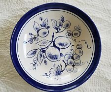 "LA PRIMULA Cobalt Blue Fruit 12"" Pasta Bowl/Plate/Platter-Made in Italy"