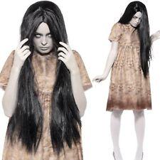 Womens Evil Spirit Costume Ghost Poltergeist Halloween Fancy Dress Outfit
