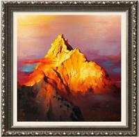 "Hand painted Oil painting original Art Landscape Mountain on canvas 36""x36"""