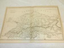 1819 Antique Map/RHAETIA ET NORICUM/PROVIACIAE ROMANORUM/ALPS&PROVINCES OF ROME