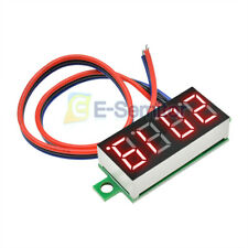 "0.36"" DC0-100V 4-Digit Display Voltmeter Panel LED Voltage Volt meter 3 Wire Red"