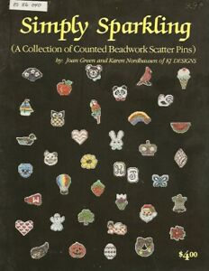 Vintage 1984 Simply Sparkling Collection of Counted Beadwork Scatter Pins