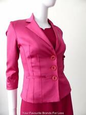 LE CHATEAU Size XXS AU 6 - 8 US 2 - 4 Pink Satin Stretch Jacket Made In Canada