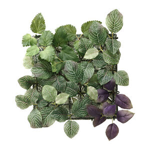 NEW FEJKA ARTIFICIAL PLANT WALL MOUNTED PANEL INDOOR/OUTDOOR GREEN LILAC/ GREEN
