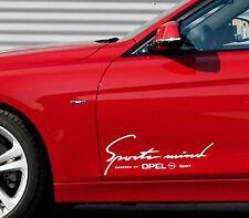 2 x Opel Sports Mind Aufkleber XL Astra Corsa Insignia Calibra Emblem Logo