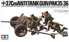 TAMIYA GERMAM WWII 3,7 Cm ANTITANK GUN PAK 35/36 Scala 1:35 Cod.35035