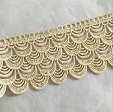 2 Yards Gold Lace Trim Gold Fringe Tassel Tassle Trim 1.5cm Wide