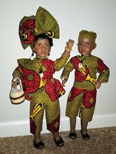 """Beautiful Dressed Doll Attire/Authentic African Fabric 21"""" Porcelain GIRL"""