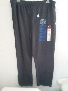 "FLORIDA Gators Men Size ""X Large"" Durable Gray Fleece Pants"
