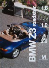 Prospekt BMW Z3 Roadster 1.8 - 1.9 - 2.8 -  Z3 M  2/96  Modelljahr 1997