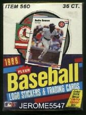 1988 1989 1990 Fleer Baseball Trading Cards Wax Boxes