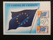 FRANCE CONSEIL EUROPE MK 1969 EUROPARAT MAXIMUMKARTE CARTE MAXIMUM CARD MC a8159