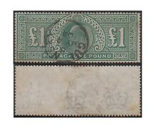 GREAT BRITAIN stamp 1911 EDWARD VII 1 Pound green SG320 used - F187