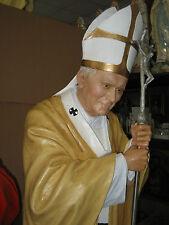 Statua Papa Giovanni Polo II in vetroresina cm 165