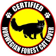 "Certified Norwegian Forest Cat Lover 4"" Sticker"