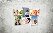 604 Bildergalerie Collage für 6 Fotos 10x15 cm 3D Optik Wandgalerie Bilderrahmen