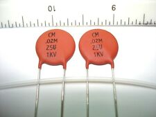 2 NOS Sprague .022uf 1kv Ceramite Z5U Ceramic Disc Tone Capacitors Fender OEM,