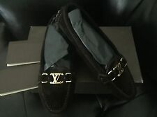 New Louis Vuitton LV Monogram Leather Oxford Loafers Flats 39.5 8.5-9 Moccasins