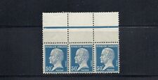 FRANCE 1923-36 LOUIS PASTEUR (Scott 191 strip of 3) F/VF MNH