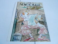 APRIL 15 1950 NEW YORKER magazine cover only art print CLOWN