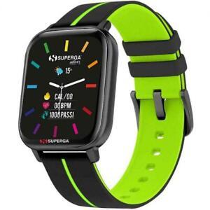Smartwatch SUPERGA SW-STC004 Silicone Nero Verde TOUCHSCREEN NEW