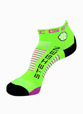 Steigen Fluro Green Quarter Length Performance Running and Cycling Socks