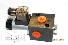 Hydraulik  3/2 Wege -Ventil -12 Volt innen Gewinde 3/8 - integrierte grundplatte