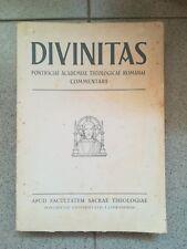 DIVINITAS PONTIFICIAE ACADEMIAE THEOLOGICAE ROMANAE COMMENTARI 1961