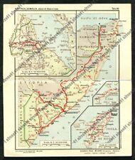 Cartina ERITREA SOMALIA COO RODI Cartolina PUBBLICITARIA FARMACEUTICA ZOJA 1932