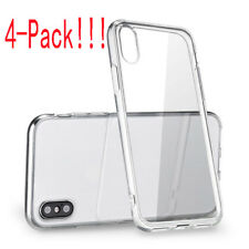 For iPhone X (4pcs) Case Crystal Clear Bumper Silicone Gel iPhone 10 Soft Cover