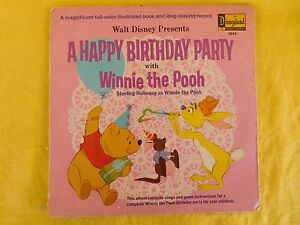 Disneyland Record 3942 A HAPPY BIRTHDAY PARTY with WINNIE THE POOH 1967
