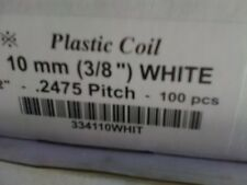100pc 10mm white Plastic Coil Binding Supplies, Spiral Plastic Coil Binders Sale