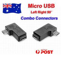 2x Micro USB Male to Female 90° 270° Angle Plug Converter Data Sync Power Charge