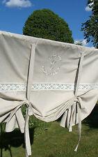 Raff Gardine CRYSTAL SAND 160x120 LillaBelle Monogramm bestickt Rollo Curtain